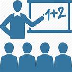 Icon Teacher Student Professor Math Blackboard Learning