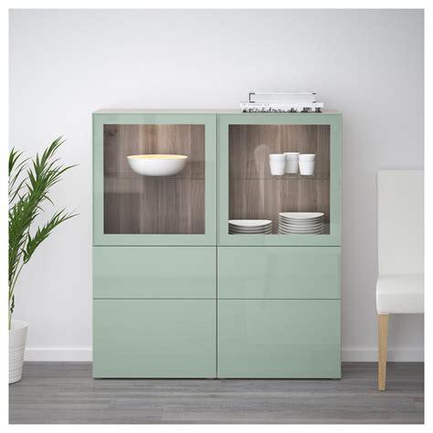Ikea Besta Cupboard by Storage Combination W Glass Doors Best 197 Walnut Effect