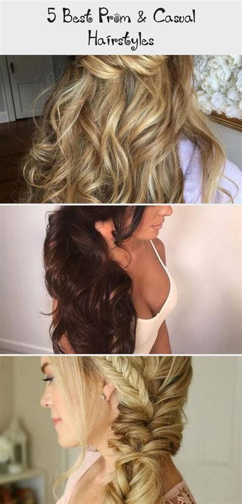 5 Best Prom & Casual Hairstyles Brides maid hair