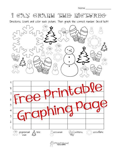 Free Christmaswinter Graphing Worksheet (kindergarten
