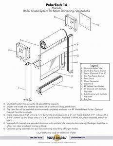 16 Manual Roller Shade System For Darkening