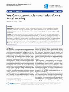Pdf  Versacount  Customizable Manual Tally Software For