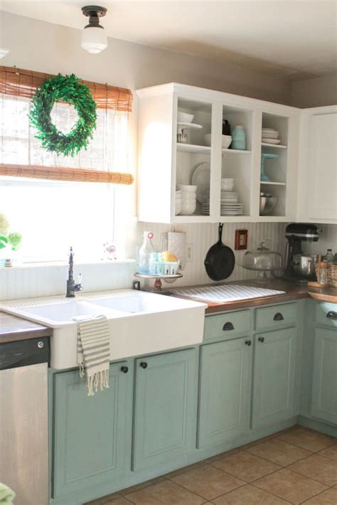 stunning farmhouse kitchens  coloured cabinets