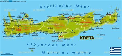 map  crete island  greece welt atlasde