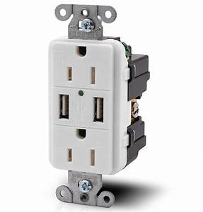 Duplex Receptacle With Twin Usb Charger Ports