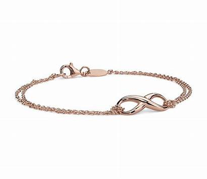 Bracelet Infinity Chain Gold Silver Sterling Rose