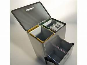 Poubelle De Tri Selectif : poubelle pour tri s lectif 80 l avec 5 bacs differenziata ~ Farleysfitness.com Idées de Décoration