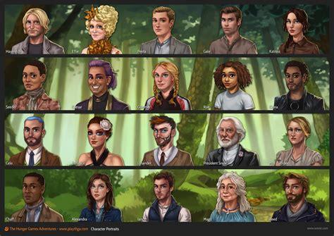 list of characters in hunger aviv or illustrator character designer