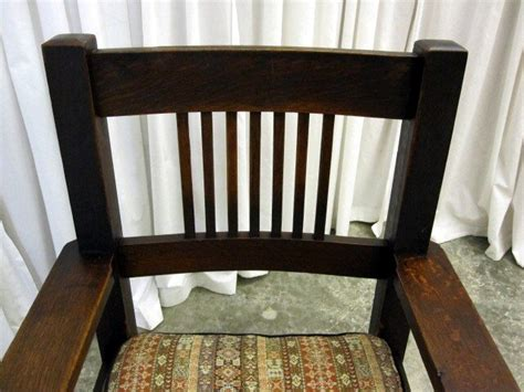 antique oak mission arts crafts rocking chair for