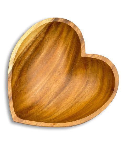 Schale Holz Design by Sch 252 Ssel Akazie 25x6cm Herz Holz Design Schale Obstschale