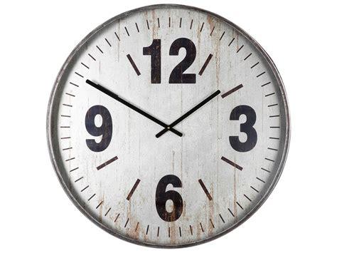 Uttermost Marino Brushed Silver Oversized Wall Clock