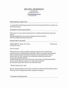 delona interior design resume With interior designer summary
