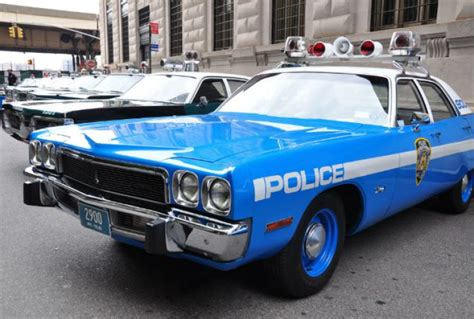 Classic Police Cars Come Roaring Back Into Lower Manhattan