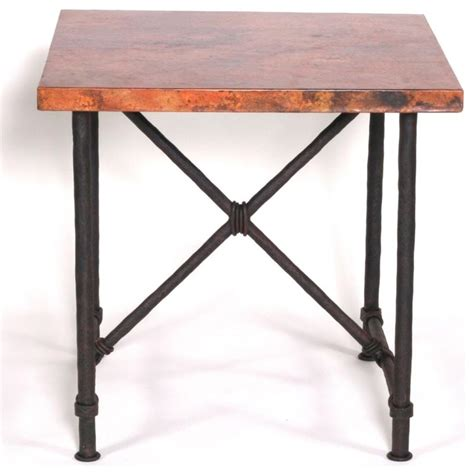rustic wrought iron table ls burlington end table with 24 quot x24 quot square top rustic