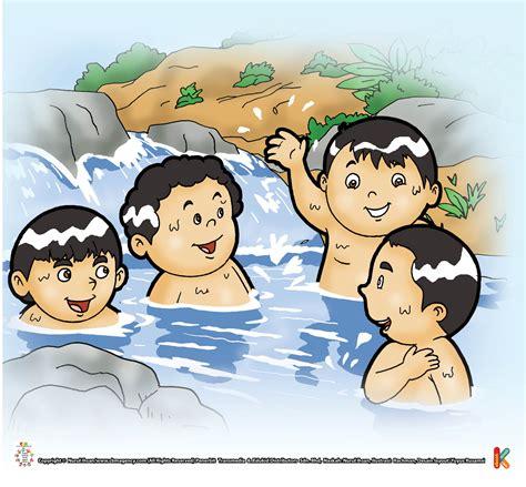 gambar kartun mandi