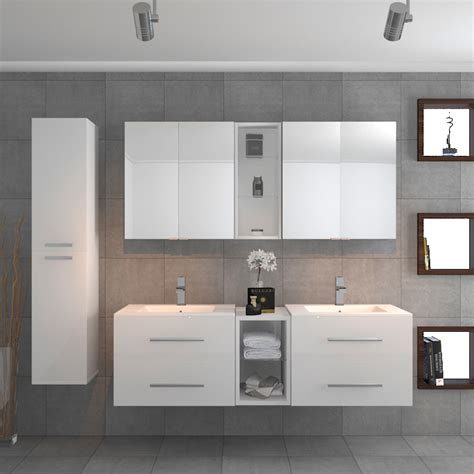 sonix double vanity bathroom suite white buy