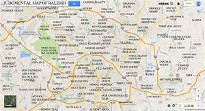 JUDGMENTAL MAPS: Raleigh, NC by Sea Dragon Copr. 2014 Sea ...