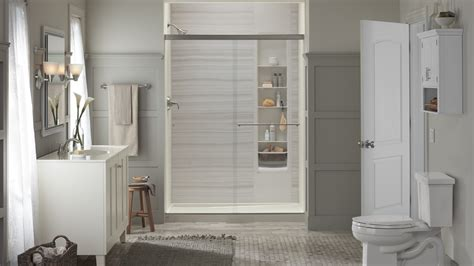update  bathroom   kohler luxstone shower