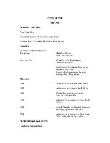 resume 226 on bar personal details date of birth