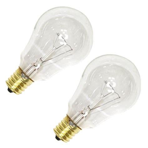 intermediate base ceiling fan light bulb 2pk 40w cl intr