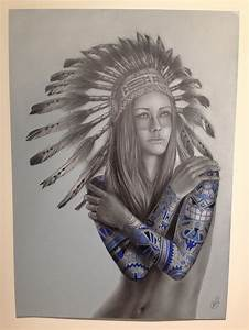 native women with headdress tattoos - Google Search ...