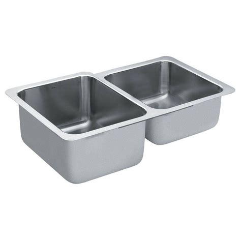 stainless steel undermount kitchen sink double bowl moen 1800 series undermount stainless steel 32 in double