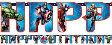 buy avengers happy birthday banner age  ultron party