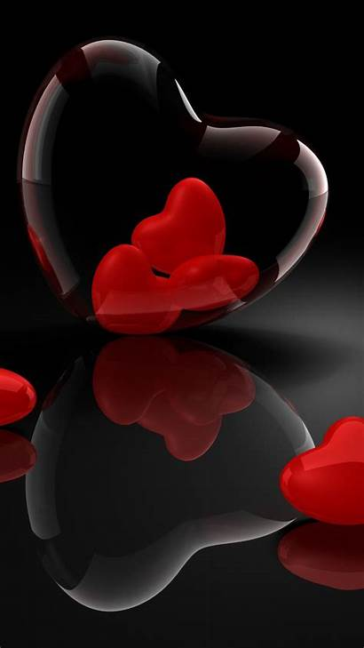 3d Heart Iphone Glass Reflection Wallpapers Valentines