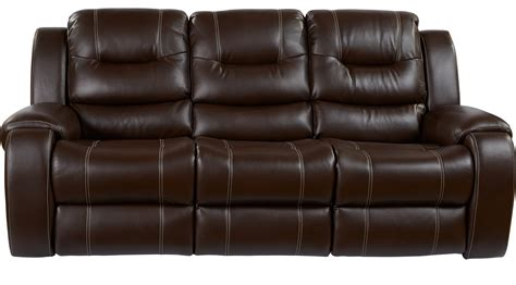 brown settee 755 00 baycliffe brown reclining sofa contemporary