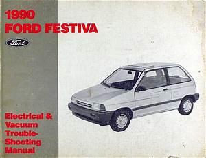 1990 Ford Festiva Foldout Wiring Diagram Original