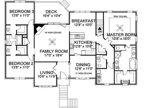 split level ranch floor plans freeman split level home plan 013d 0092 house plans and more
