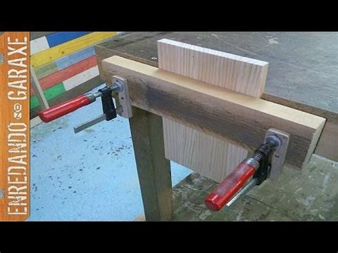 como hacer  tornillo de banco de carpintero youtube