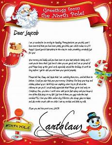 Free letters from santa claus by mail letter of for Best letters from santa claus
