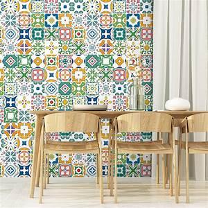 Stickers Carreaux De Ciment Cuisine : 30 stickers carreaux de ciment azulejos frederica ~ Melissatoandfro.com Idées de Décoration