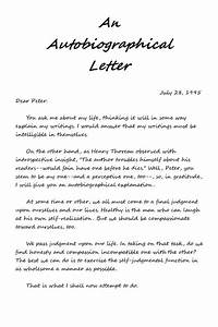 An, Autobiographical, Letter, With, A, U0026quot, Self