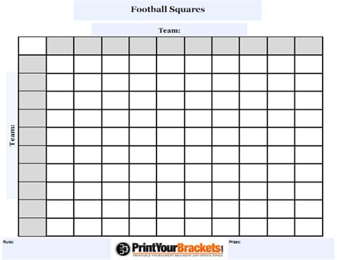 football squares template customizable football squares customize your square grid pool