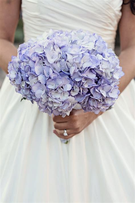 Purple Hydrangea Bridal Bouquet Purple Hydrangea Wedding