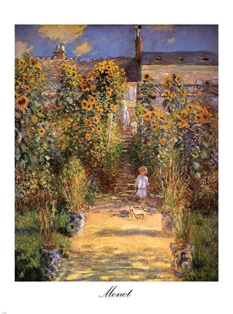 artists garden  vetheuil  boy  fine art
