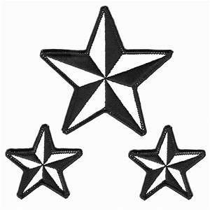 3 White Stars Clipart