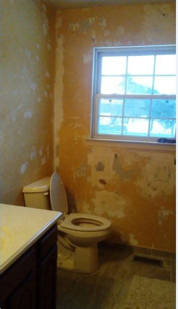 How To Get Bathroom Wallpaper by Painting After Removing 3 Layers Of Wallpaper Hometalk