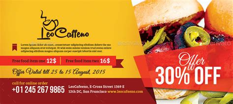 code promo cuisine addict food coupons by craftydot graphicriver
