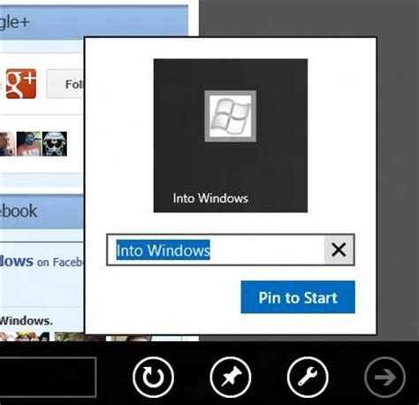 how to web pages to start screen in windows 8
