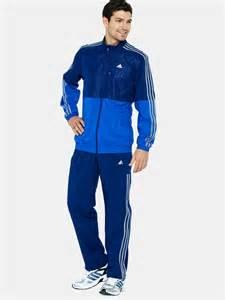 Blue Adidas Tracksuit Men