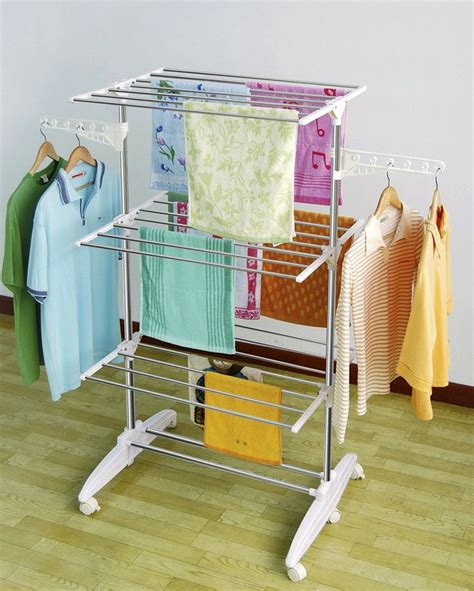 laundry room clothes hanger racks design ideas