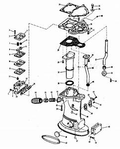 Evinrude Exhaust Housing Group Electric Shift Parts For