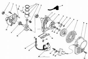 Toro Professional 51660  Tc 3500 Gas Trimmer  1988  Sn 8000001