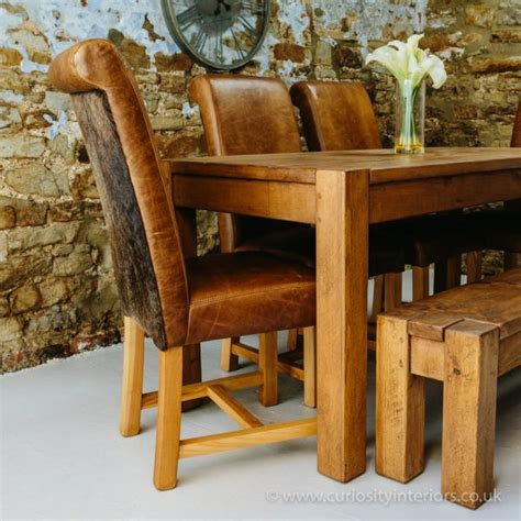 Cowhide Dining Chairs Uk - buy leather cowhide dining chair vintage hide chairs
