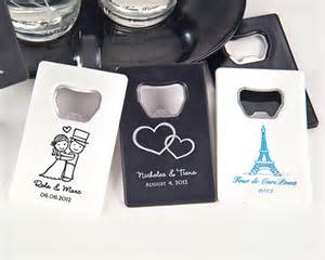 personalized cards wedding favors personalized credit card bottle opener many designs available