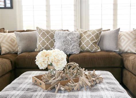 brown sectional living room ideas cushion ideas for brown sofa brokeasshome 7964