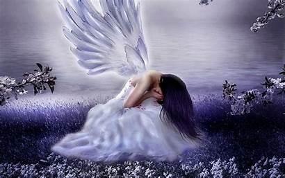Angel Guardian Sad Dark Wallpapers Angels Depression